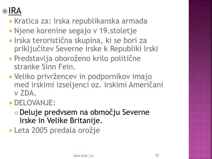 Maja Sirše, 3.a