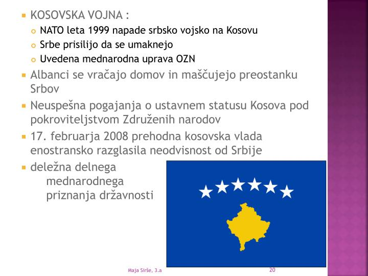 KOSOVSKA VOJNA :