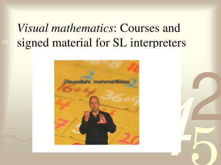 Visual mathematics