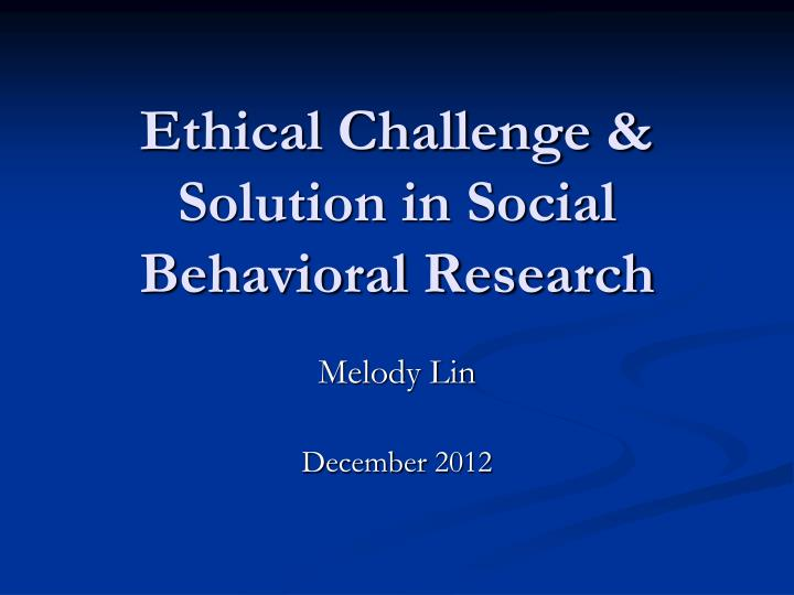 discuss ethical considerations of bloa