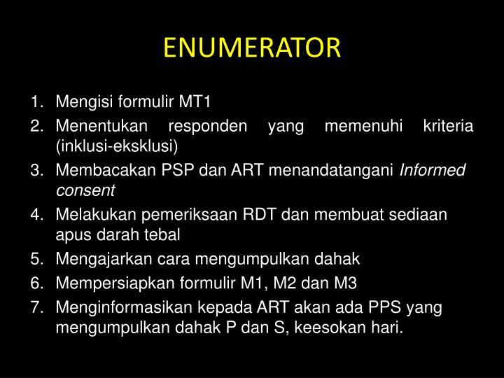 ENUMERATOR
