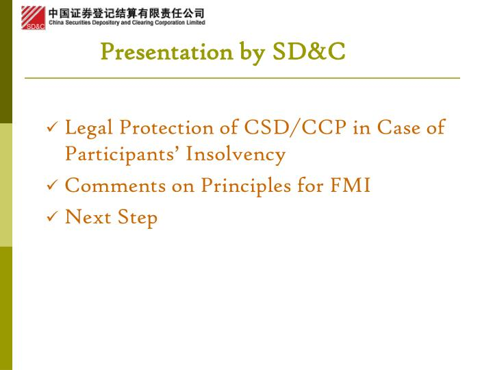 Presentation by sd c