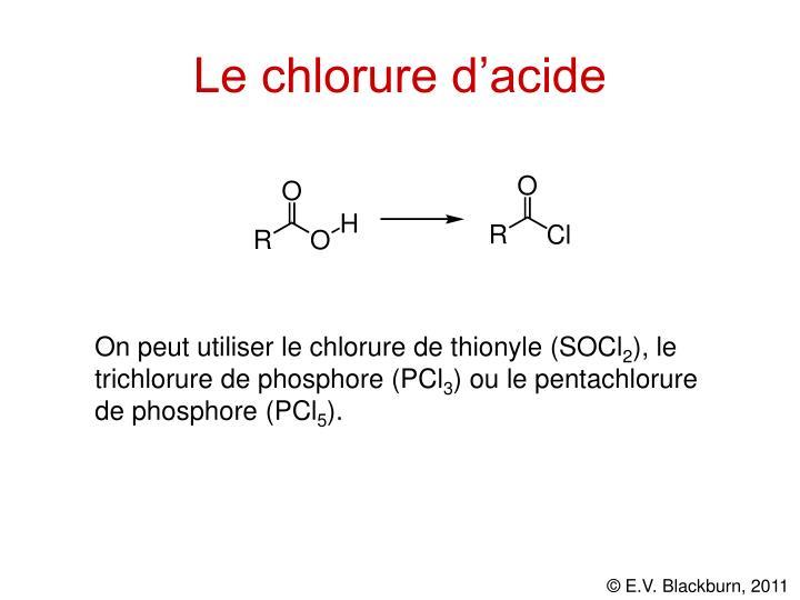 Le chlorure d'acide
