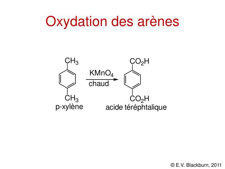 Oxydation des arènes