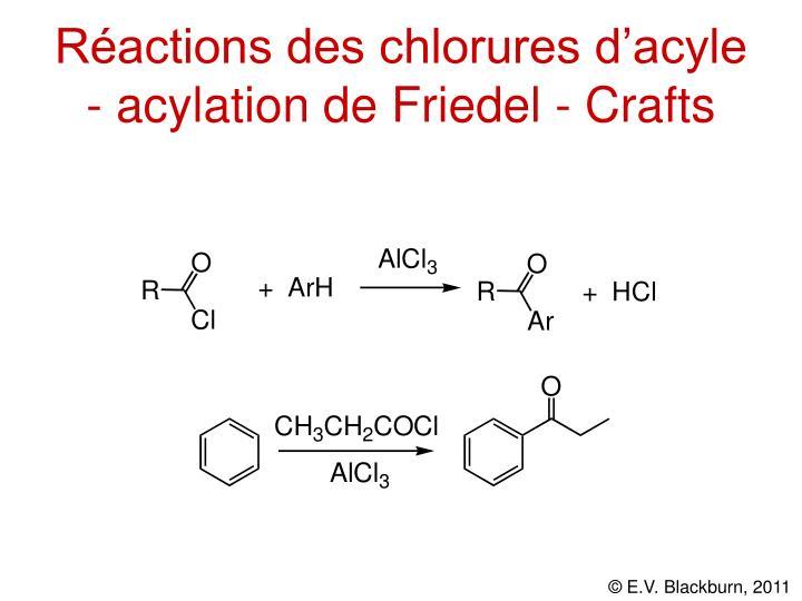 Réactions des chlorures d'acyle - acylation de Friedel - Crafts