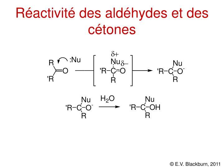 Réactivité des aldéhydes et des cétones