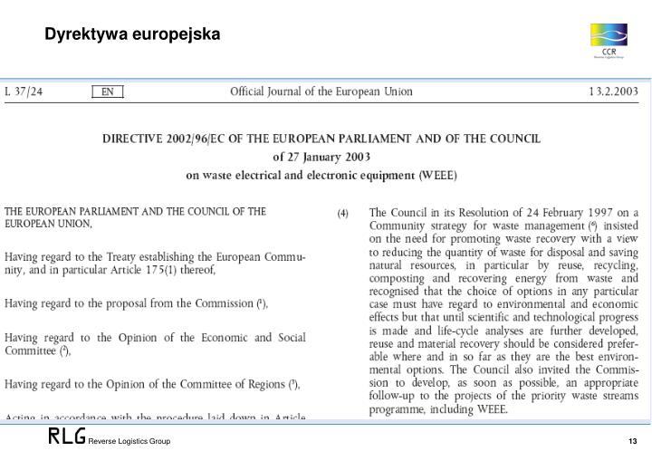 Dyrektywa europejska