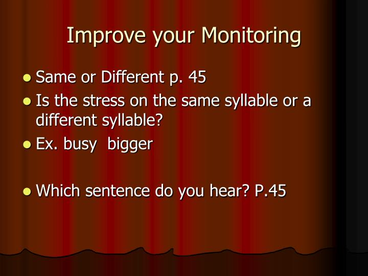 Improve your Monitoring