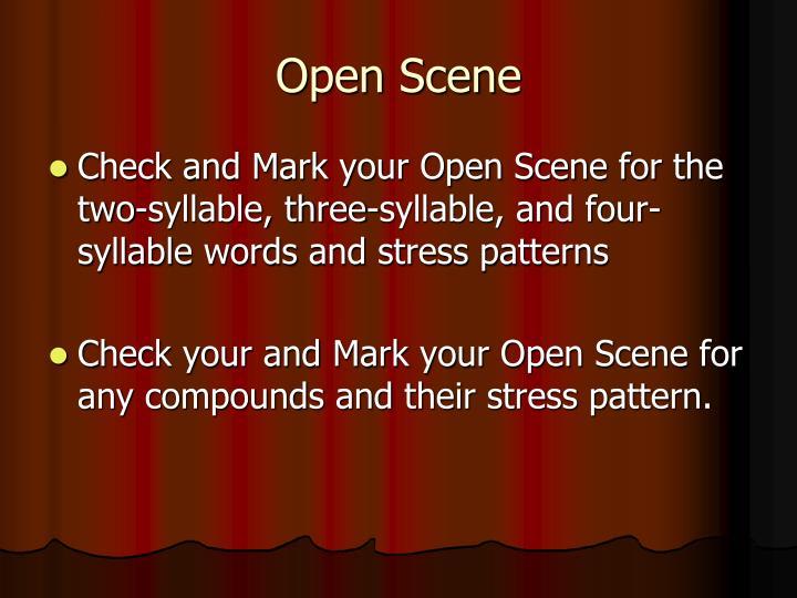 Open Scene