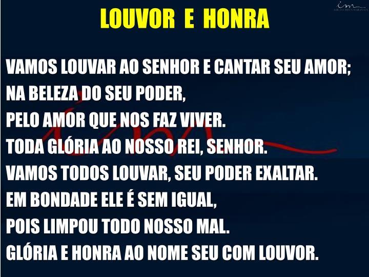 LOUVOR  E  HONRA