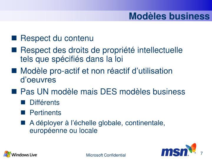 Modèles business