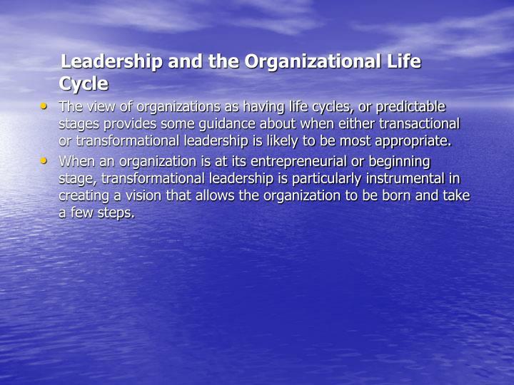 Leadership and the Organizational Life Cycle