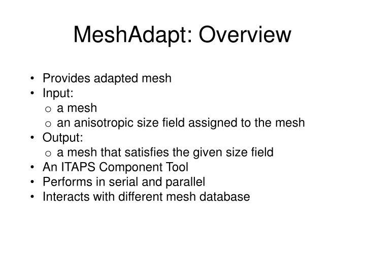 MeshAdapt: Overview
