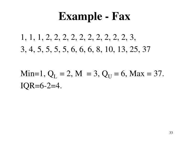 Example - Fax