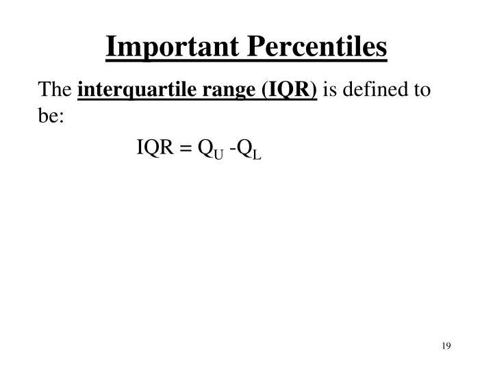 Important Percentiles