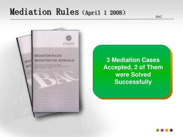 Mediation Rules