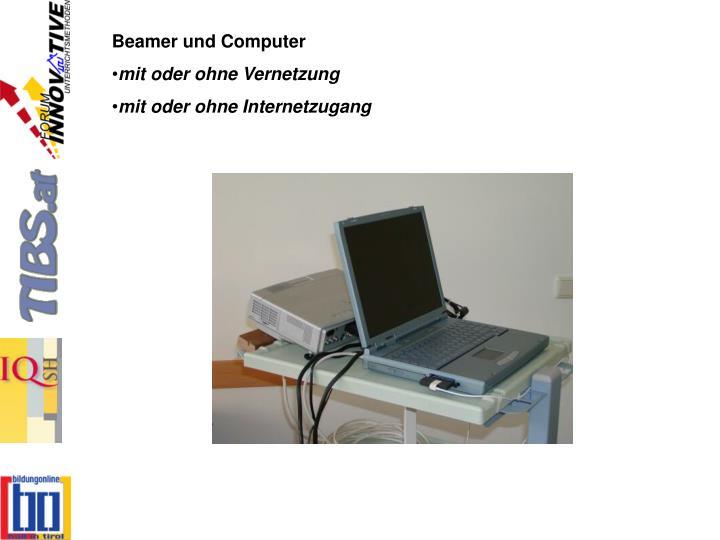 Beamer und Computer