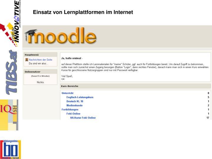 Einsatz von Lernplattformen im Internet