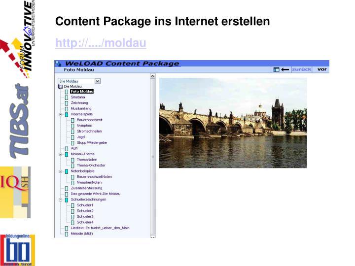 Content Package ins Internet erstellen