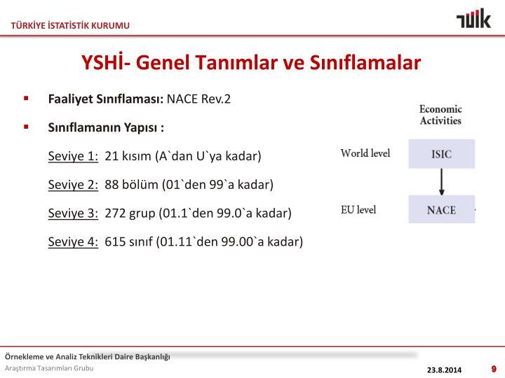 YSHİ- Genel Tanımlar ve Sınıflamalar