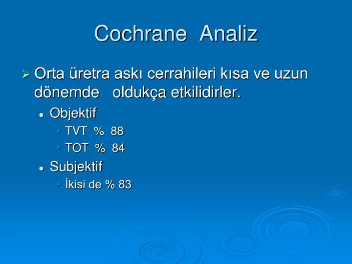 Cochrane  Analiz