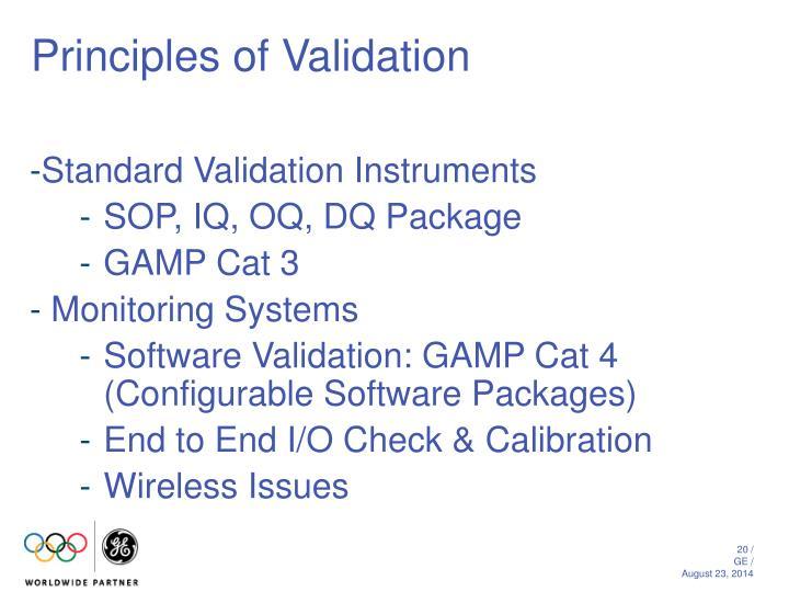 Principles of Validation