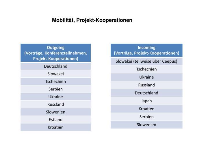 Mobilität, Projekt-Kooperationen