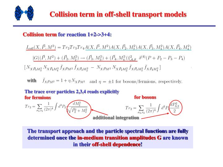 Collision term in off-shell transport models