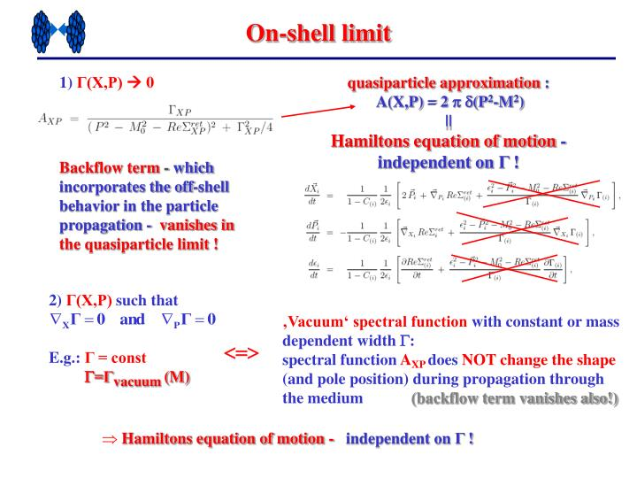 On-shell limit