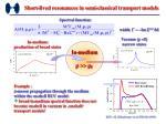 short lived resonances in semi classical transport models