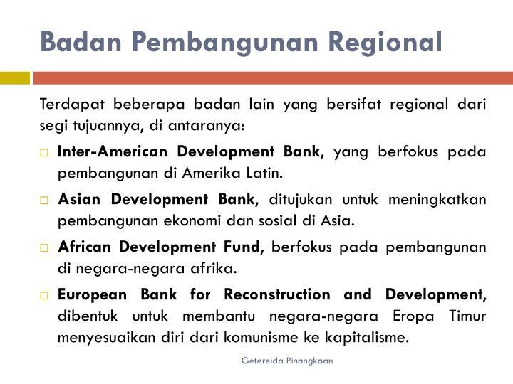Badan Pembangunan Regional
