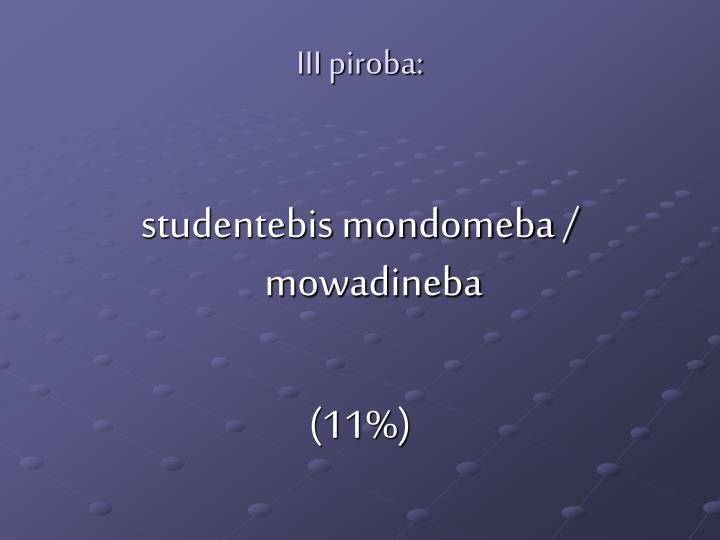 III piroba: