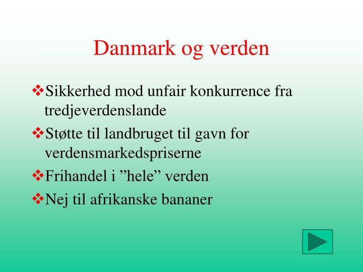 Danmark og verden