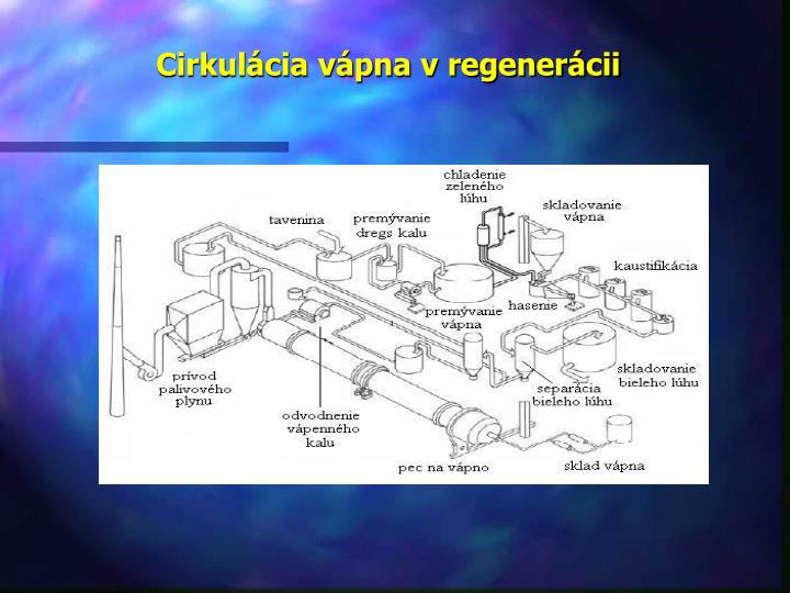 Cirkulácia vápna v regenerácii