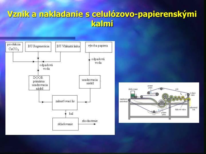 Vznik a nakladanie s celulózovo-papierenskými kalmi