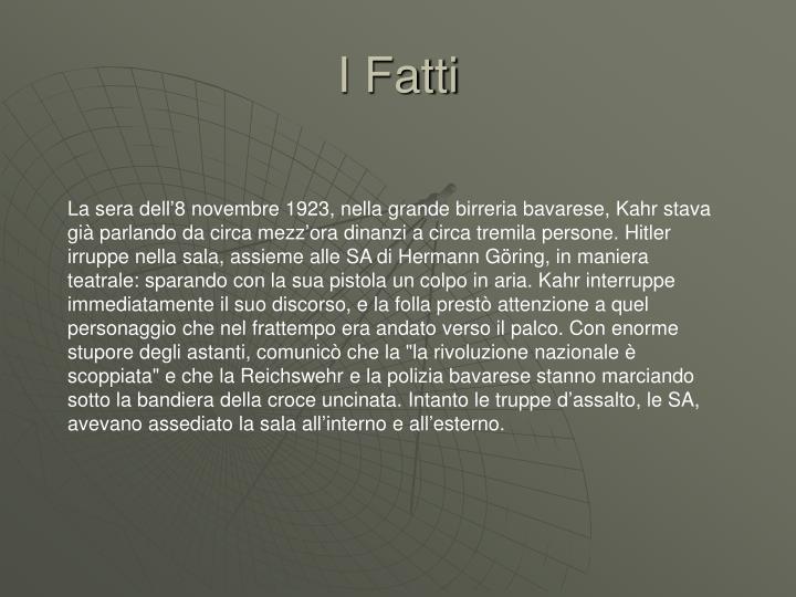 I Fatti