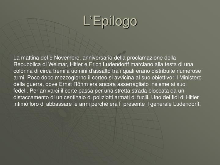 L'Epilogo