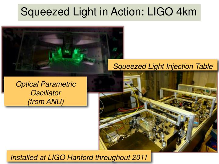 Squeezed Light in Action: LIGO 4km