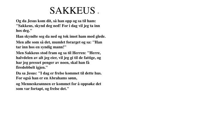 SAKKEUS