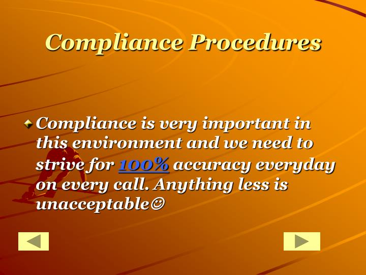 Compliance Procedures
