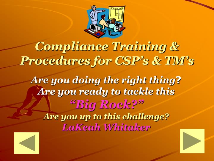 Compliance Training & Procedures