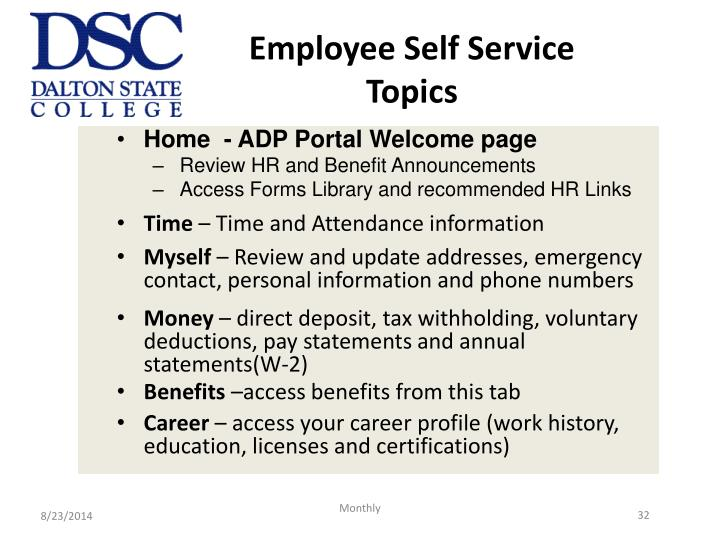 Employee Self Service Topics