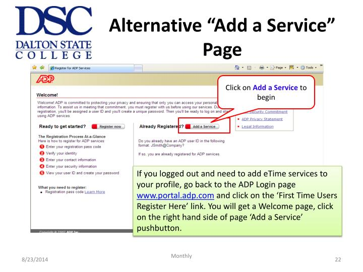 "Alternative ""Add a Service"" Page"