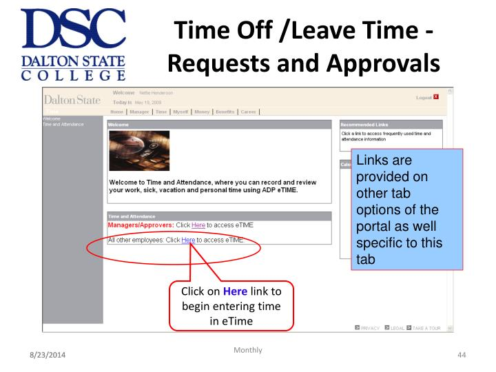 Time Off /Leave Time - Requests and Approvals