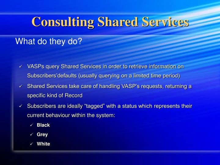 Consulting Shared Services