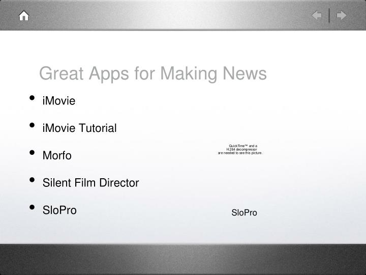 Great Apps for Making News