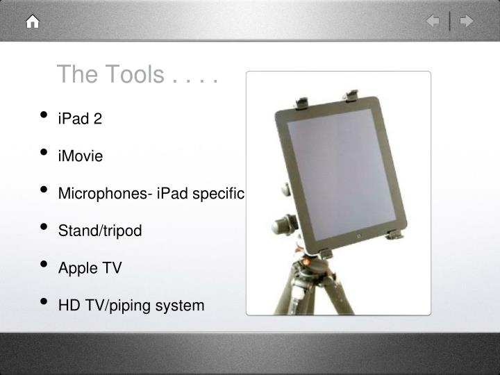 The Tools . . . .