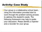 activity case study