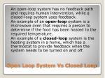 open loop system vs closed loop