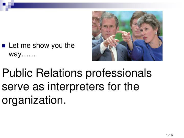 Public Relations professionals